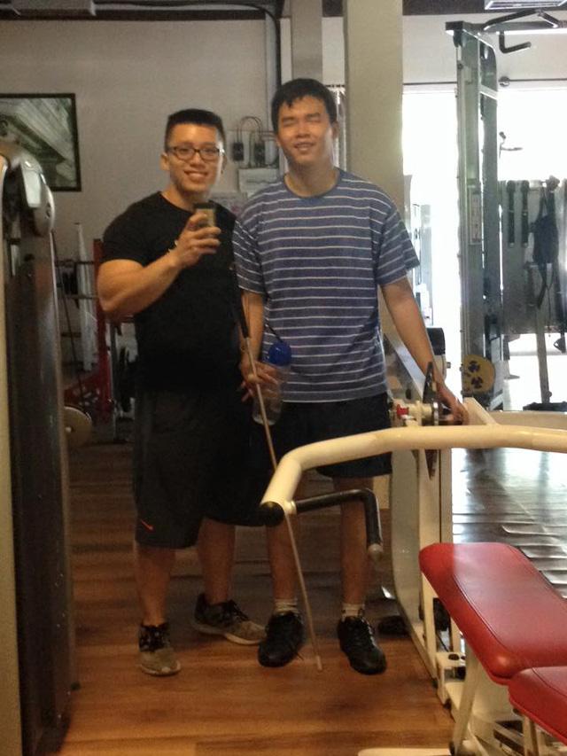Giang đi tập gym. Ảnh: Facebook